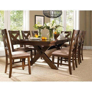 9 Piece Solid Wood Dining Set with Table and 8 Chairs  sc 1 st  Overstock & Butterfly Leaf Kitchen \u0026 Dining Room Sets For Less | Overstock