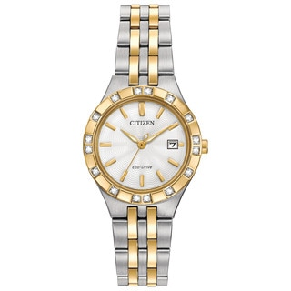 Citizen Women's Two-tone Stainless Steel Diamond Eco-Drive Watch
