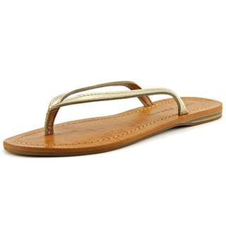 Lucky Brand Women's 'Amberr' Gold Leather Sandals
