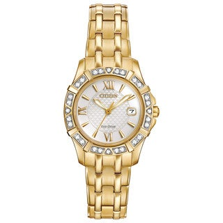 Citizen Women's Goldtone Stainless Steel Diamond EW2362-55A Eco-Drive Watch