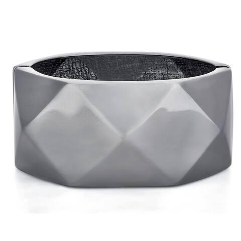 Divina Fitbit Black finish Zinc alloy Enhancer Bangle Bracelet for Fitbit bit charge
