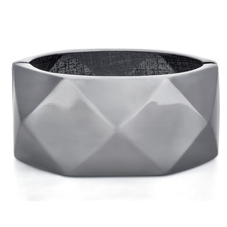 Divina Fitbit Black finish Zinc alloy Enhancer Bangle Bracelet for Fitbit bit charge