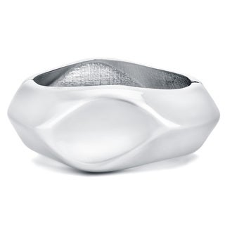 Divina Silver Enhancer Bangle Bracelet for Fitness Tracker