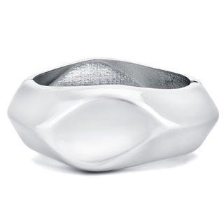 Divina Silver Enhancer Bangle Bracelet for Fitness Tracker