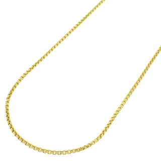 Gold over Silver 1mm Round Box Necklace