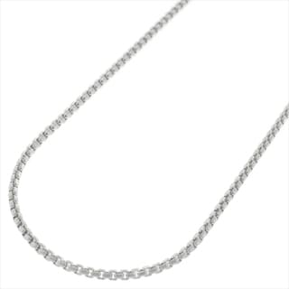 Sterling Silver 1.5mm Round Box Necklace