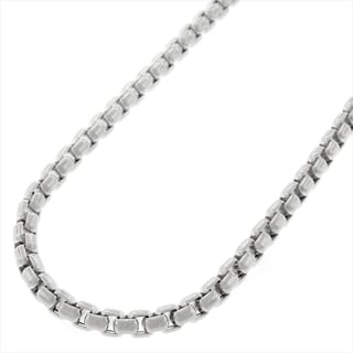 Sterling Silver 3.5mm Round Box Necklace