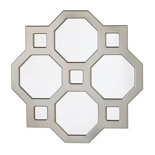 Dazzling Silver Octagon Wall Mirror