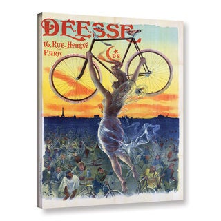 Jean De Paleologue's 'Vintage French Poster Of A Goddess With A Bicycle, c.1898' Gallery Wrapped Canvas - multi