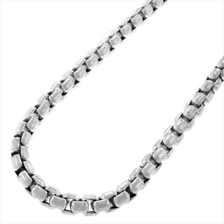 Sterling Silver 5mm Round Box Necklace