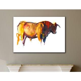 Mark Adlington's 'Sunset Bull' Gallery Wrapped Canvas