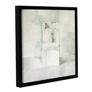 Daniel Cacouault's 'White' Gallery Wrapped Floater-framed Canvas - Off-white (5 options available)