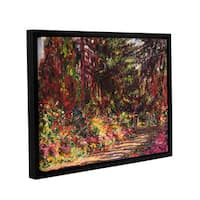 Claude Monet's 'The Garden Path At Giverny, 1902' Gallery Wrapped Floater-framed Canvas