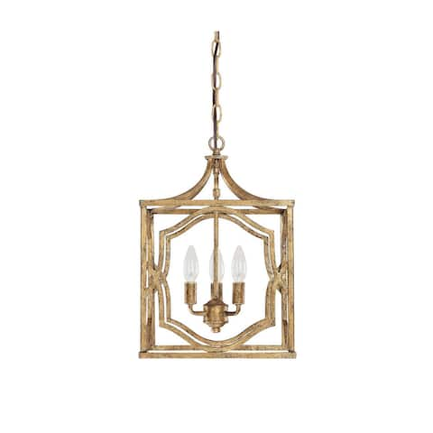 Blakely 3-light Antique Gold Foyer Pendant - Antique Gold - Antique Gold