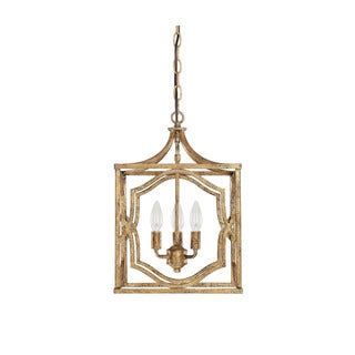 Capital Lighting Blakely Collection 3-light Antique Gold Foyer Pendant
