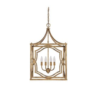 Capital Lighting Blakely Collection 4-light Antique Gold Foyer Pendant