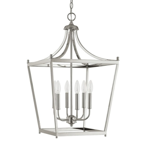 fbee81564 Shop Capital Lighting Stanton Collection 6-light Polished Nickel Foyer  Pendant - Free Shipping Today - Overstock - 11691817