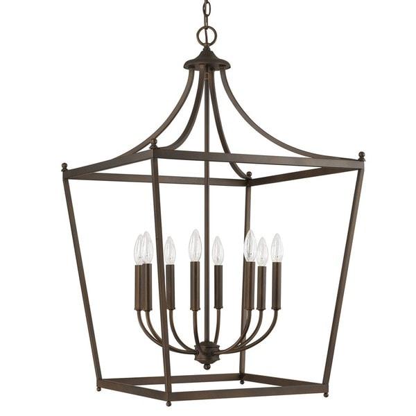 Foyer Lighting Overstock : Capital lighting stanton collection light burnished