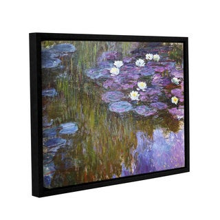 Claude Monet's 'Water Lilies, 1919-20' Gallery Wrapped Floater-framed Canvas