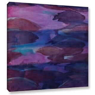 Charlotte Johnstone's 'Purple Parrots VI, 2000' Gallery Wrapped Canvas