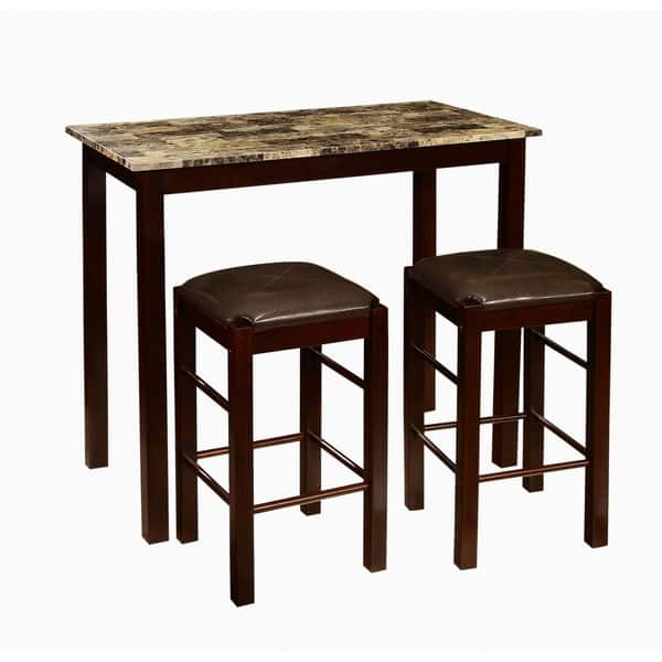 Tremendous Shop Copper Grove Luther 3 Piece Counter Height Table And Ibusinesslaw Wood Chair Design Ideas Ibusinesslaworg