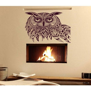 Beautiful owl animal Wall Art Sticker Decal Red