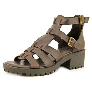 Mia Women's 'Arena' Brown Leather Sandals