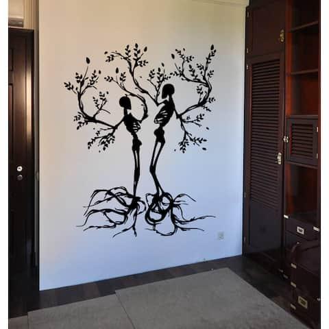 Tree skeletons Halloween Wall Art Sticker Decal