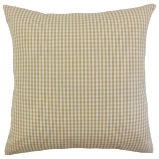 Keats Plaid Black Throw Pillow