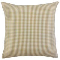 Keats Plaid Black Throw Pillow