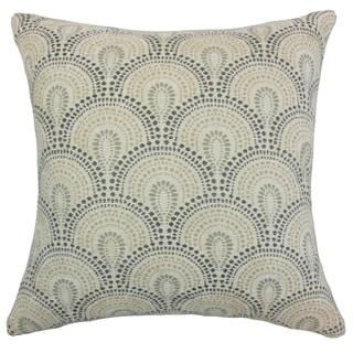 Yaru Geometric Beige Throw Pillow