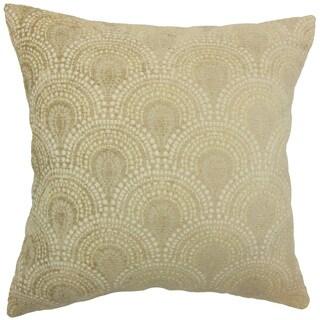 Yaru Geometric Grey Throw Pillow
