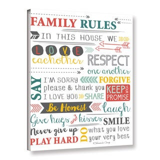 Shawnda Craig (Eve)'s 'Family Rules-Art' Gallery Wrapped Canvas - Multi