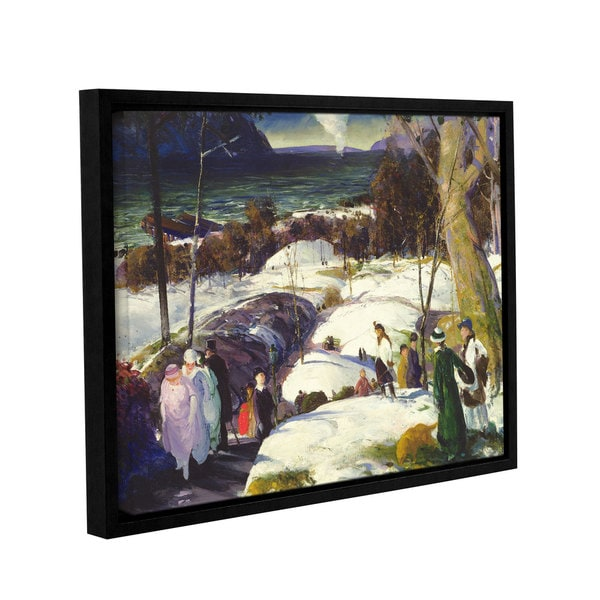 George Wesley Bellows's 'Easter Snow, 1915' Gallery Wrapped Floater-framed Canvas