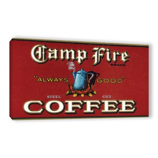 American School 'Vintage Camp Fire Coffee Product Label,1919' Gallery Wrapped Canvas