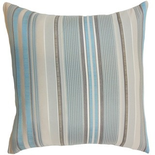 Zelag Stripes Blue Beige Throw Pillow