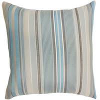 Zelag Stripes Blue Beige Throw Pillow