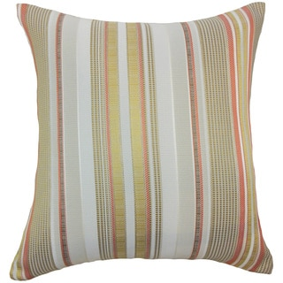 Zelag Stripes Freesia Brown Throw Pillow