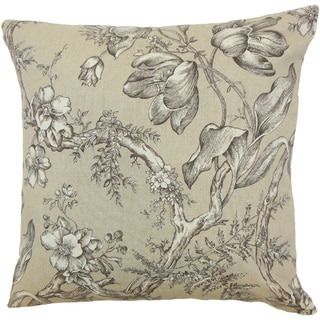 Blair Floral Black/ White Throw Pillow