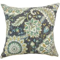 Amadea Floral Yellow Throw Pillow
