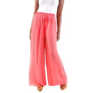 Hadari Women's Wide Leg Light Pants