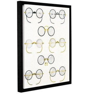 American School 'Eight Pairs of Glasses, c.1925' Gallery Wrapped Floater-framed Canvas