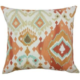 Gannet Ikat Gold Throw Pillow