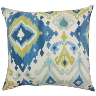 Gannet Ikat Orange Throw Pillow