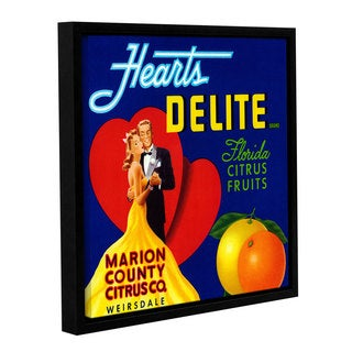 American School 'Hearts Delite Fruit Crate Label, c.1920' Gallery Wrapped Floater-framed Canvas