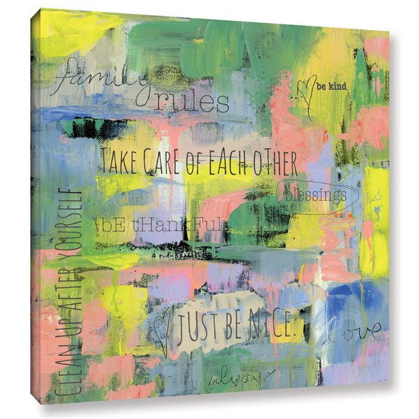 Pamela J. Wingard's 'Abstract Family Rules ' Gallery Wrapped Canvas