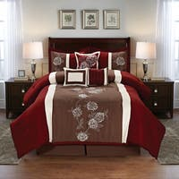 Floral Embroidered 7-piece Comforter Set