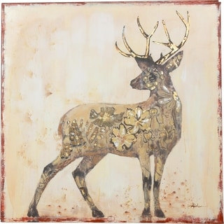 Beautiful Stag Deer with Rich Browns and Beige Colors Canvas Art