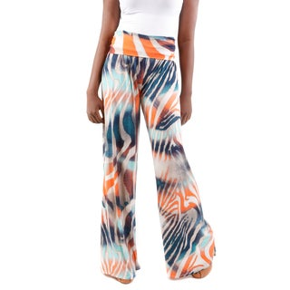 Hadari Women's Tiger Print Wide-Leg Pants