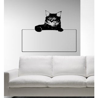 Beautiful cat animals frame for family photos Wall Art Sticker Decal